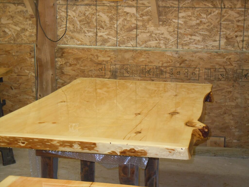 Bruces return live edge table tops 008